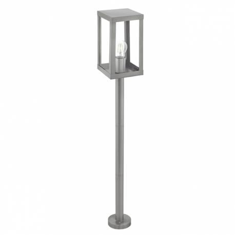 Външна лампа-стояща 1хE27 инокс/прозрачно ALAMONTE