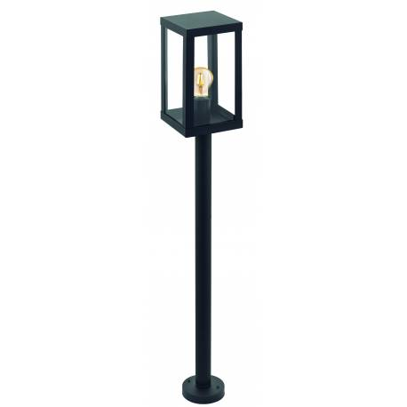 Външна лампа-стояща 1хE27 черно/прозрачно  ALAMONTE 1
