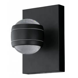 Външен аплик-LED 2X3,7W 2х280lm черно SESIMBA