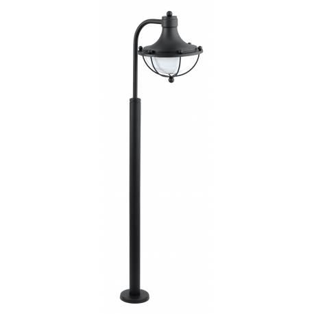 Алуминиева стояща лампа 1хE27 черно/бяло MONASTERIO