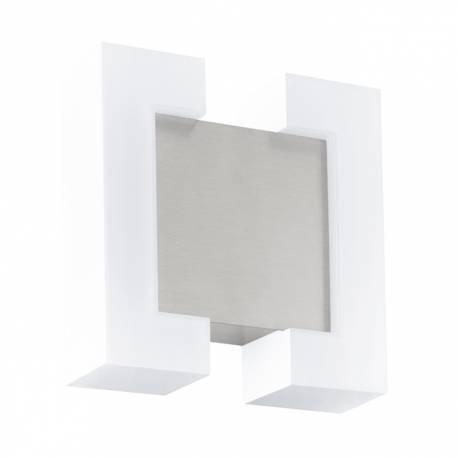 Външен аплик LED 2х4,8W 550lm галв.бяло/никел мат  SITIA