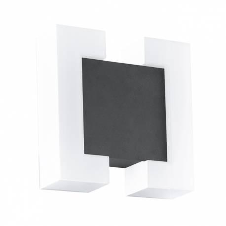 Външен аплик LED 2x4,8W 550lm галв.бяло/антрацит SITIA