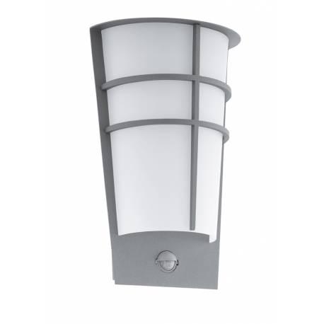Външна лампа LED аплик 2х2,5W 2x180lm сребро сензор BREGANZO 1