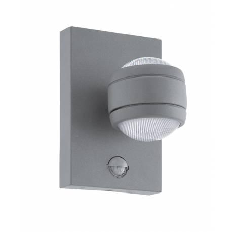 Външна лампа LED аплик 2x3,7W 2х280lm  сензор сиво  SESIMBA 1