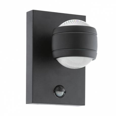 Външна лампа LED аплик 2х3,7W 2х280lm сензор черно  SESIMBA 1
