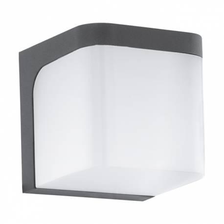 Външен аплик LED 1х6W 500lm куб антрацит/бяло JORBA