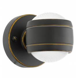 Външна лампа LED аплик 2х3,7W 2x280lm т.кафяво  SESIMBA