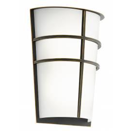 Външна лампа LED аплик 2х2,5W 2x180lm т.кафяво/бяло BREGANZO