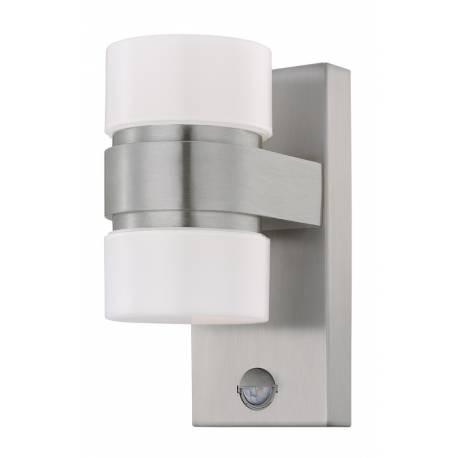 Външен аплик LED 2х6W 2х500lm инокс/сиво/бял.ц ATOLLARI