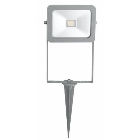 Външна лампа LED 10W 900lm прожектор колче сиво FAEDO 2