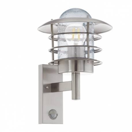 Външна лампа аплик 1хЕ27  инокс стомана/ прозр.сензор  MOUNA