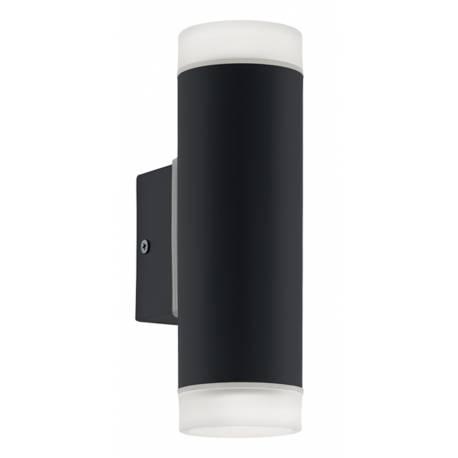 Външна лампа аплик LED 2х5W 2х400lm черно/мат RIGA-LED