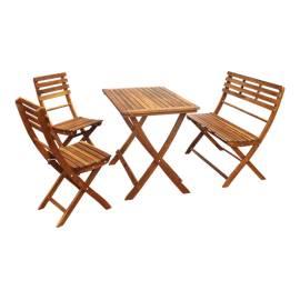 Балконски комплект - сгъваем -маса, пейка и два стола
