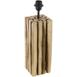Imagén: Винтидж настолна лампа - дърво 1хE27 H-470 мм