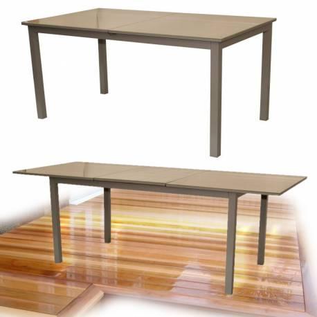 Градинска маса със стъклен плот