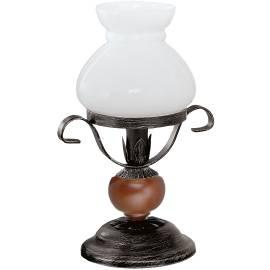 Настолна лампа  Rustic 7,  30x20 см, 1xE14, дърво, метал и стъкло