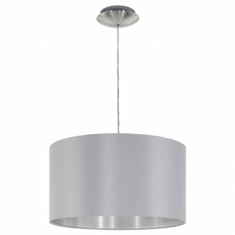 Пендел-висящ 1хЕ27 Ø380 никел-мат/сиво-сребро MASERLO