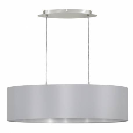 Пендел-висящ 2хЕ27 L-780 никел-мат/сиво-сребро MASERLO