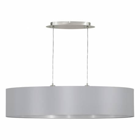 Пендел-висящ 2хЕ27 L-1000 никел-мат/сиво-сребро MASERLO
