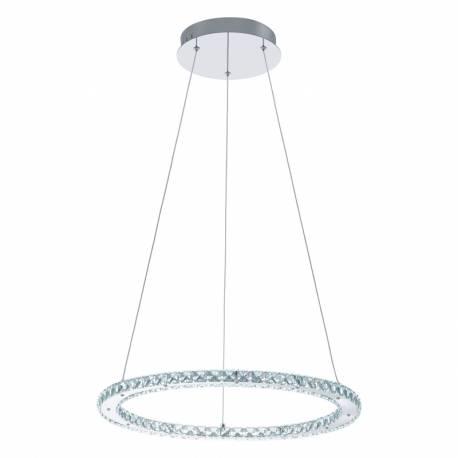 Пендел-висящ LED 1х16,8W 2000lm обръча кристал/хром VARAZZO