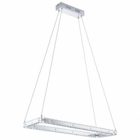Пендел-висящ LED 1х17W 2000lm пр.рамка кристал/хром VARAZZO