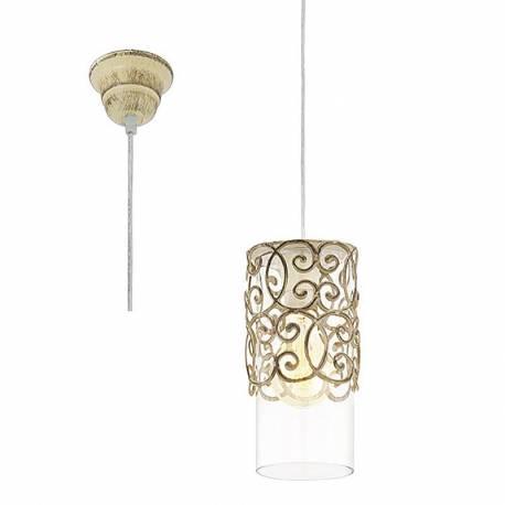 Пендел - висяща лампа E27,дант.декор каф.-патина,прозр. кабел, Ø125 Н270 CARDIGAN