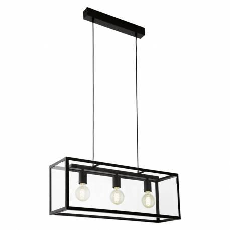 Пендел-висяща лампа 3хЕ27 L-780 черно/прозр. CHARTERHOUSE
