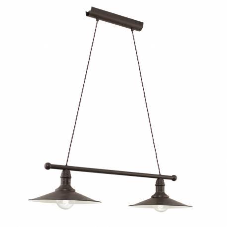 Пендел-висяща лампа 2хE27 ант.кафяво/бежово STOCKBURY