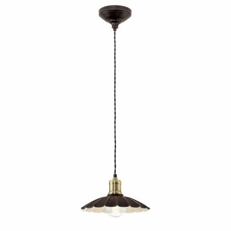 Пендел-висяща лампа 1хE27 Ø250 черно-златно/бежово HEMINGTON