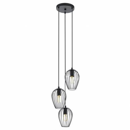Пендел-висяща лампа 3хE27 черно NEWTOWN