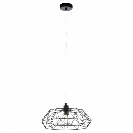 Пендел-висяща лампа 1хE27 реш.структ. Ø455 черно CARLTON 2