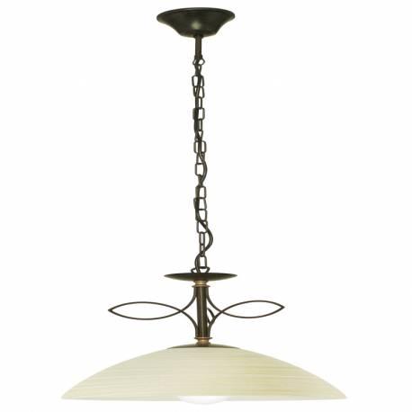 Пендел-висяща лампа 1хЕ27 антично- кафяво/бежово л BELUGA