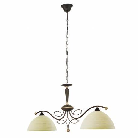 Пендел-висяща лампа 2хЕ27 антично- кафяво/бежово л BELUGA