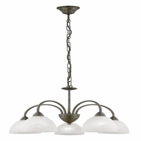 Пендел-висяща лампа 5хE14 златно кафяво/алаб. DIONIS