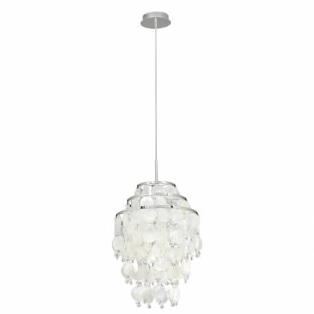 Пендел-висяща лампа 1хЕ27 хром/седеф/кристали CHIPSY