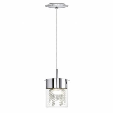 Пендел-висяща лампа 1хЕ14 хром /прозр. DIAMOND