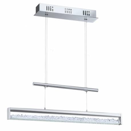 Пендел-висяща лампа LED 24W 1800lm L 700хром/КРИСТАЛИ CARDITO