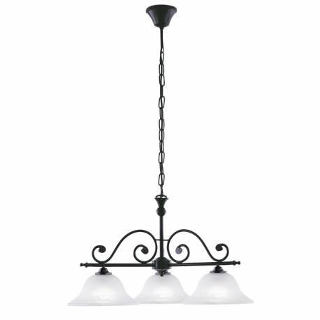 Пендел-висяща лампа 3xE27 черно/алабастър MURCIA