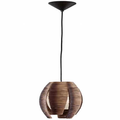 Пендел-висяща лампа 1хE27 60W ст+кафява оплетка MONGU