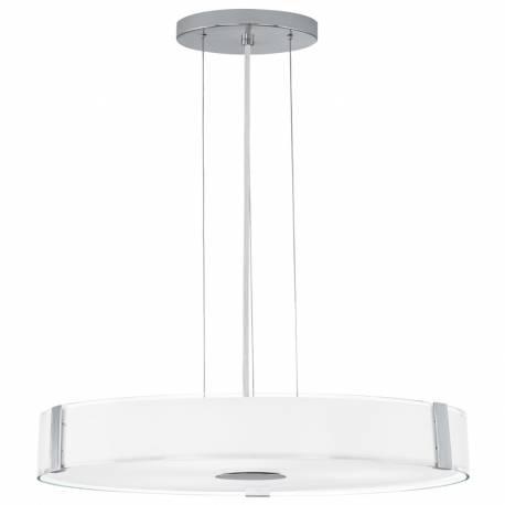 Пендел-висяща лампа 3х E27 Ø410 стъкло бяло л/хром VARANO