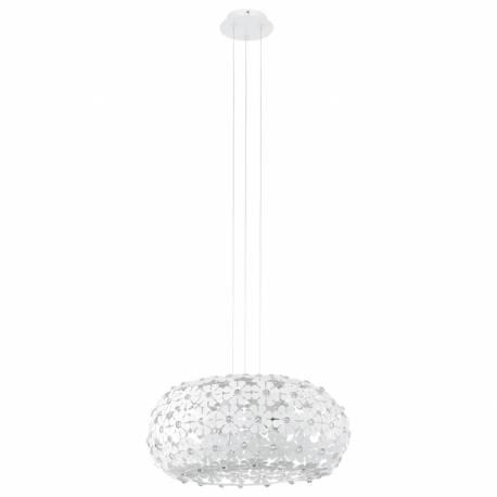 Пендел-висяща лампа 2xE27 бели цв./кристал HANIFA