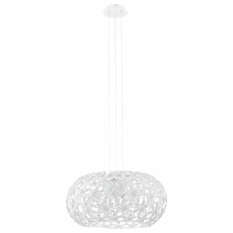 Пендел-висяща лампа 2хE27 Ø480 бяло/прозрачно SILVESTRO 1