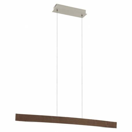 Пендел-висяща лампа LED 4x6W 1800lm орех/бяло FORNES