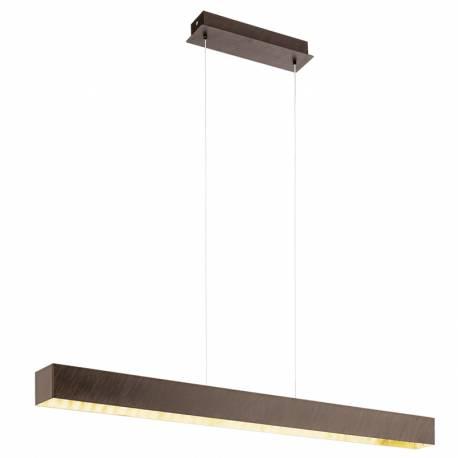 Пендел-висяща лампа LED 3x6W 1300lm ант.кафяво/вътр.златно COLLADA