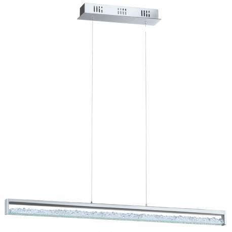Пендел-висяща лампа LED 6x6W 2500lm 2700K-5000Kdim. хром/прозр. с кристали CARDITO 1