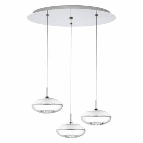 Пендел-висяща лампа LED 3х5W Ø400 хром/прозр.-сат. MONTEFIO 1