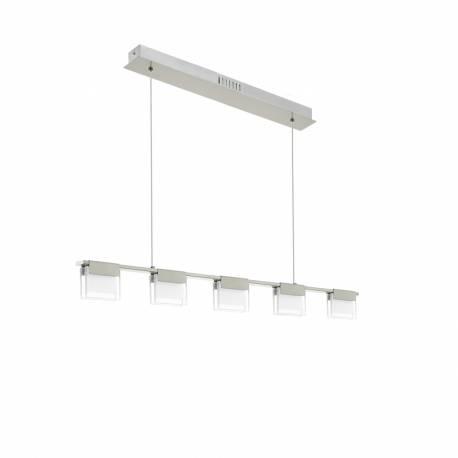 Пендел-висяща лампа LED 5х5,8W димер.никел-мат /прозр.-сат. CLAP 1