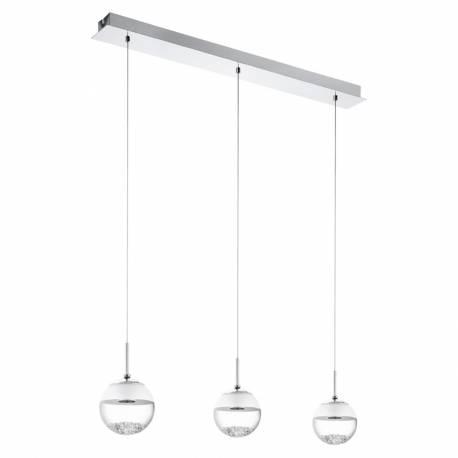 Пендел-висяща лампа LED 3х5W хром/прозр.-сат MONTEFIO 1