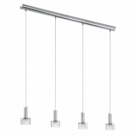 Пендел-висяща лампа LED 4х3,3W 1360lm хром/сат.-прозр. FABIANA 1