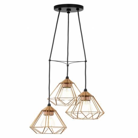 Пендел-висяща лампа 3хE27 мед. цвят TARBES